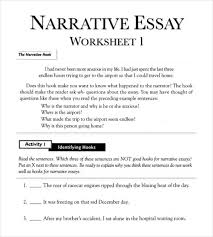 essay outline template sample example format  example of narrative essay outline worksheet in pdf