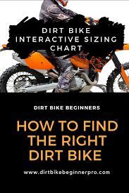 Dirt Bike Height Chart Dirt Bike Sizing Chart Interactive Guide 2019 Dirt Bike