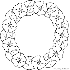 Small Picture Poppy wreath Coloring Page Remembrance Day