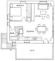 Garage Apartment Plan 30030  Total Living Area 687 Sq Ft 1 Garage With Apartment Floor Plans
