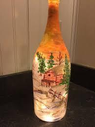 Decorative Wine Bottles With Lights Hand Painted Bottles Vases Jazzi's Flower Center 69