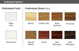 Pella Wood Clad Windows Interior Wood Stain Chart From