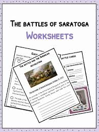 The Battles of Saratoga Facts & Worksheets for Kids | Teaching ...