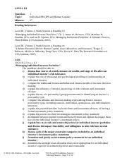 CFA Level III Exam Question Paper             StudyChaCha Luminous Logic