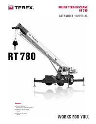 Terex Rough Terrain Crane Rt780 Data Sheet Pages 1 20