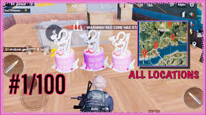 Anniversary Cake Locations Pubg Mobile ...
