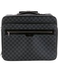 louis vuitton luggage black. louis vuitton | damier pilot case black lyst luggage