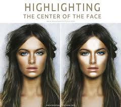highlighting the center of the face all you need to know beauty make up and photography 樱桃