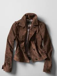 banana republic cropped suede moto jacket size l brown