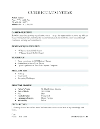 New Resume Format Beauteous Cv Or Resume Sample Kappalab