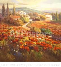 Red Poppy Hill' Prints - Roberto Lombardi   AllPosters.com