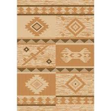 sunshine collection gold natural 8 ft x 10 ft outdoor patio area rug
