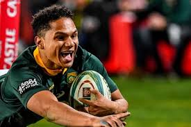 herschel jantjies of the springboks scores a try during the the rugby championship match between south