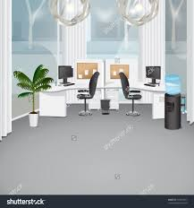 free office design software. Modern Office Vector Illustration Graphic Design Editable For Save To A Lightbox. Interior Free Software