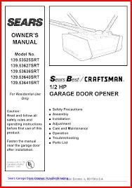 genie garage door opener manual genie garage door manual genie 1 2 hp the drive garage
