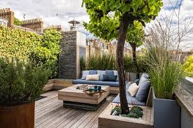 Small Picture Small Roof Garden With Decking Garden Design Ideas