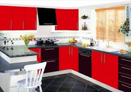 Red And Black Kitchen Designs Unbelievable Cabinets Best 6