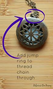 learn how to make a diy essential oil diffuser locket necklace by refocus on being