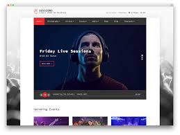 Music Website Templates Beauteous 48 Awesome Responsive WordPress Music Themes 48 Colorlib
