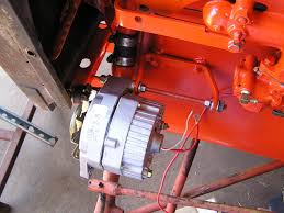 squid's fab shop allis chalmers b alternator conversion allis chalmers tractor wiring harness b Allis Chalmers Tractor Wiring alternator hung onto the engine allis chalmers b conversion