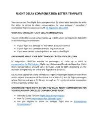 Letter To Airline Flight Compensation Letter Template By Claim Flights Issuu