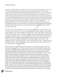 Gun Control Persuasive Essay Year 11 Wace English