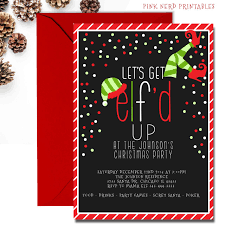 Christmas Inviations Christmas Party Invitation Lets Get Elfd Up Christmas Invitations 2