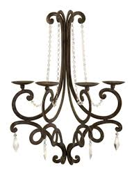 french style chandelier wall sconce candle holder with crystal details 26 com