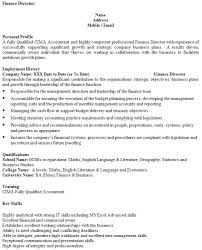 Finance Director Cv Example Icover Org Uk