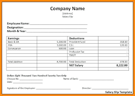Payroll Receipt Template Custom Salary Invoice Template Free Printable Of Slip Format In Word