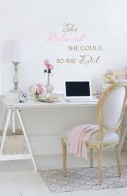 shabby chic office decor. Vintage Rose Collection My Office Space Jo-Anne Coletti White Office, Romantic, Shabby Chic Style Decor C
