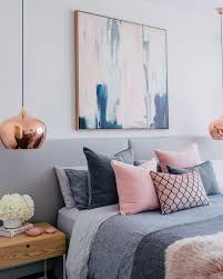 grey and blush pink bedroom ideas