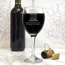 personalised wine gl housewarming gifts