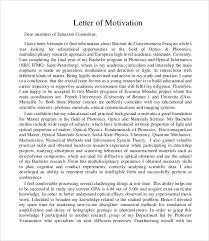 8 Sample Motivation Letters Pdf Word