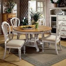 Oval Farmhouse Kitchen Table Dining Tables Sets Rustic Cane Back