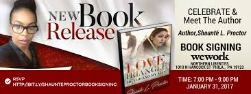 book signing flyer book signing flyer shaunte proctors book signing love triangle me