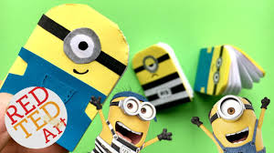 easy mini notebook minion diy mini paper book diy easy almost no glue paper book how to minions red ted art