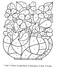 Printable Kindergarten Activities Color By Number Worksheets For ...