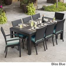 9 Piece Cantina Indoor Outdoor Dining Set In Blue