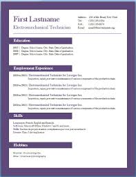 Free Download Resume Template Word Document Templates Curriculum