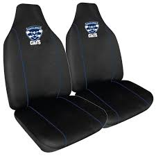geelong cats set of 2 car seat covers
