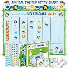 Potty Training Chart Potty Training Chart For Toddlers Fun Animal Design Reward Your Child Sticker Chart 4 Week Reward Chart Certificate Instruction Booklet And
