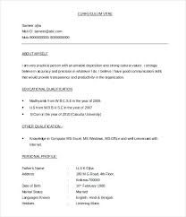 Simple Resume Formats Sample Resume Download In Word Format Resume