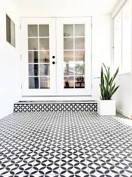Black And White Flooring Black White Cement Tile In Sunroom Brittanymakes Sunroom
