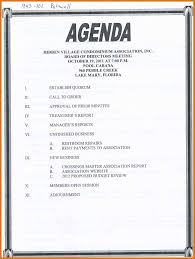 Agenda Templates In Word Agenda Template Word Letter Format Business 9