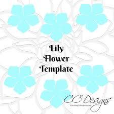 Diy Flower Pattern Templates Paper Flower Templates Diy Paper