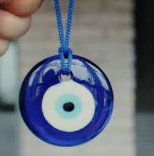 glass evil eye pendant for jewelry