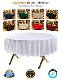 cieltown round polyester tablecloth 90 inch round white kitchen dining ndwt0gaj7