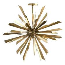 gold sputnik chandelier starburst light fixture black and