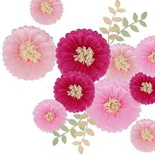 Tissue Paper Flower Ideas Doyolla 12 Pieces Pink Paper Flowers Tissue Paper Chrysanth Flower Decorations For Wall Wedding Backdrop Archway Centerpiece Nursery Wall
